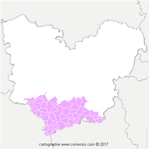 Communauté de Communes Interco Normandie Sud Eure cartographie