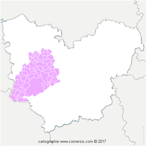 Communauté de Communes Intercom Bernay Terres de Normandie cartographie