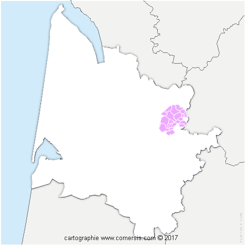 Communauté de Communes du Grand Saint Emilionnais cartographie